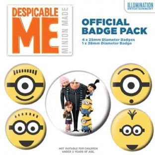 Despicable Me - 5 Badge Pack